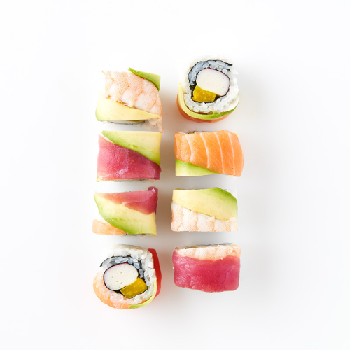 Uramaki Rainbow roll (8 Pieces)